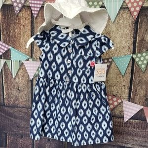 Infant Girls Ikat Print Dress